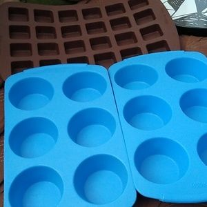 Three all silicone Wilton molds